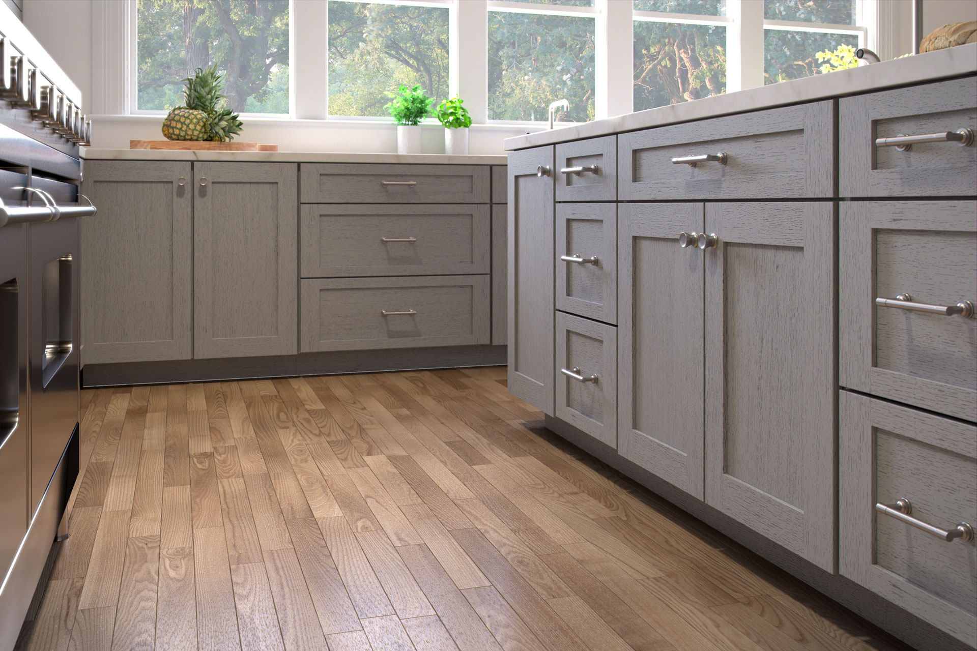 Nova Light Grey Forevermark Cabinetry - Light grey shaker cabinets